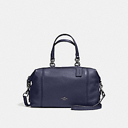 COACH LENOX SATCHEL IN PEBBLE LEATHER - ANTIQUE NICKEL/MIDNIGHT - F59325