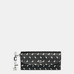 COACH BOXED SOFT WALLET IN BUTTERFLY DOT PRINT COATED CANVAS - SILVER/BLACK/CHALK - F59334