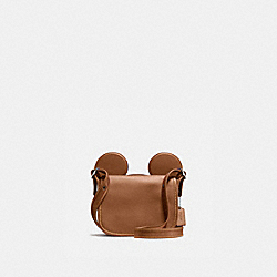 PATRICIA SADDLE IN GLOVE CALF LEATHER WITH MICKEY EARS - f59369 - ANTIQUE NICKEL/SADDLE