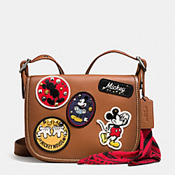 COACH PATRICIA SADDLE 23 IN GLOVE CALF LEATHER WITH MICKEY PATCHES - QB/Saddle Multi - F59373