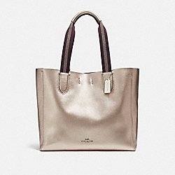 LARGE DERBY TOTE - PLATINUM/SILVER - COACH F59388