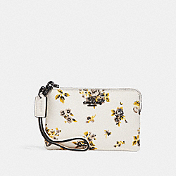 SMALL WRISTLET WITH PRAIRIE PRINT - PRAIRIE PRINT CHALK/DARK GUNMETAL - COACH F59389