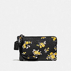 SMALL WRISTLET WITH PRAIRIE PRINT - PRAIRIE PRINT BLACK/DARK GUNMETAL - COACH F59389