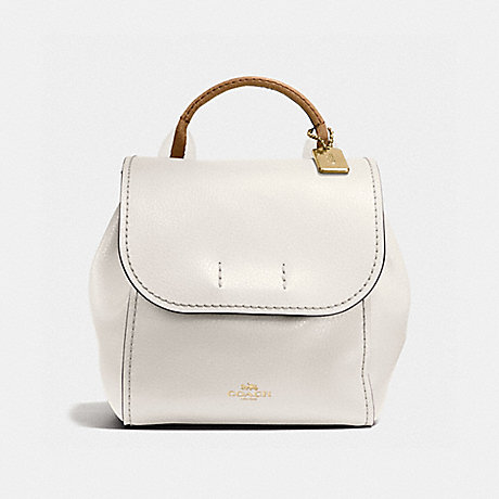 COACH DERBY BACKPACK WITH STRIPE WEBBING - CHALK/NEUTRAL/LIGHT GOLD - f59401