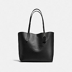 HUDSON TOTE IN NATURAL SMOOTH LEATHER - f59403 - ANTIQUE NICKEL/BLACK