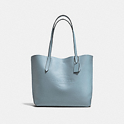 HUDSON TOTE IN NATURAL SMOOTH LEATHER - f59403 - BLACK ANTIQUE NICKEL/CORNFLOWER