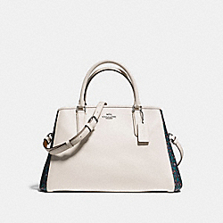 COACH SMALL MARGOT CARRYALL IN RANCH FLORAL PRINT COATED CANVAS - BLACK ANTIQUE NICKEL/CHALK - F59442