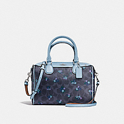 MINI BENNETT SATCHEL IN SIGNATURE C RANCH FLORAL PRINT COATED CANVAS - f59461 - SILVER/DENIM MULTI