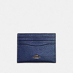CARD CASE - METALLIC BLUE/GOLD - COACH F59462