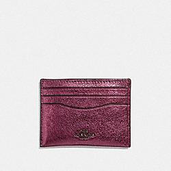 CARD CASE - METALLIC BERRY/GUNMETAL - COACH F59462