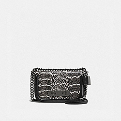 COACH SWAGGER SHOULDER BAG 20 IN SNAKESKIN - DK/CHALK BLACK - COACH F59493