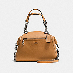 COACH CHAIN PRAIRIE SATCHEL - SILVER/LIGHT SADDLE - F59501