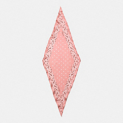 BUTTERFLY BANDANA SILK DIAMOND SCARF - f59508 - BLUSH