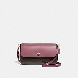 REVERSIBLE CROSSBODY - LIGHT GOLD/BROWN ROUGE - COACH F59534