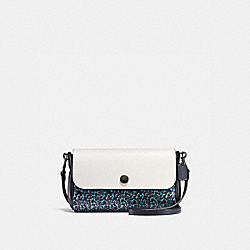 REVERSIBLE CROSSBODY IN RANCH FLORAL PRINT COATED CANVAS - BLACK ANTIQUE NICKEL/MIST - COACH F59535