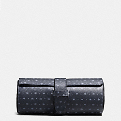 WATCH ROLL IN STAR DOT PRINT COATED CANVAS - f59540 - MIDNIGHT NAVY