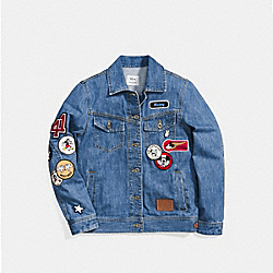 MICKEY PATCHES JEAN JACKET - DENIM - COACH F59549