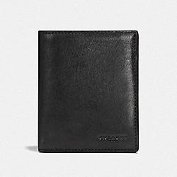 SLIM COIN WALLET - BLACK - COACH F59671