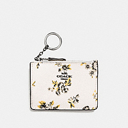 COACH MINI SKINNY ID CASE WITH PRAIRIE PRINT - DARK GUNMETAL/PRAIRIE PRINT CHALK - F59747