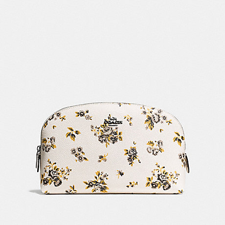 COACH COSMETIC CASE 22 WITH PRAIRIE PRINT - PRAIRIE PRINT CHALK/DARK GUNMETAL - f59749