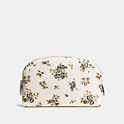 COSMETIC CASE 22 WITH PRAIRIE PRINT - PRAIRIE PRINT CHALK/DARK GUNMETAL - COACH F59749