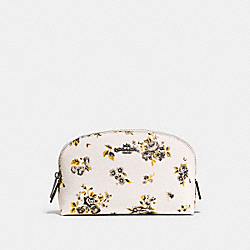 COSMETIC CASE 17 WITH PRAIRIE PRINT - PRAIRIE PRINT CHALK/DARK GUNMETAL - COACH F59750