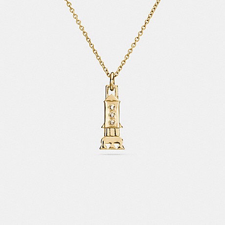 COACH MINI 18K GOLD PLATED ROCKET NECKLACE - GOLD - F59754