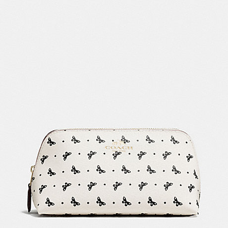 COACH COSMETIC CASE 17 IN BUTTERFLY DOT PRINT COATED CANVAS - IMITATION GOLD/CHALK/BLACK - f59783