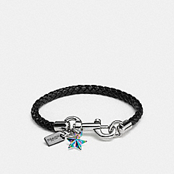 COACH CHARMS FRIENDSHIP BRACELET - BLACK/SILVER - COACH F59803