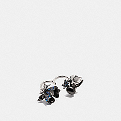 CLUSTERED COACH CHARMS DUSTER RING - MULTICOLOR/BLACK - COACH F59805