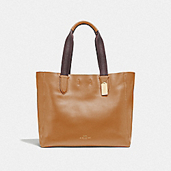 LARGE DERBY TOTE - IM/LIGHT SADDLE - COACH F59818