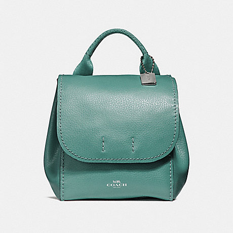 COACH DERBY BACKPACK - BLUE GREEN/SILVER - f59819