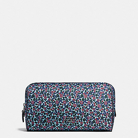 COACH COSMETIC CASE 22 IN RANCH FLORAL PRINT NYLON - BLACK ANTIQUE NICKEL/MIST - f59829