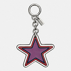 COACH STAR BAG CHARM - SILVER/BRIGHT RED - F59862