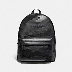 COACH CHARLES BACKPACK IN BLACKOUT MIXED MATERIALS - MATTE BLACK/BLACK - F59935