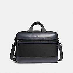 COACH TERRAIN CONVERTIBLE BACKPACK IN MIXED MATERIALS - BLACK ANTIQUE NICKEL/BLACK/MIDNIGHT NAVY - F59944
