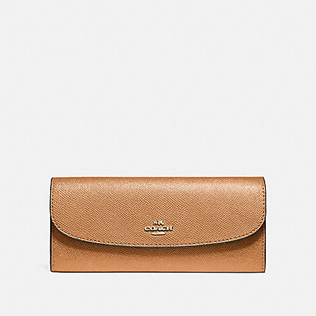 COACH SOFT WALLET - LIGHT SADDLE/LIGHT GOLD - F59949