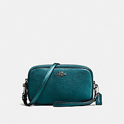 CROSSBODY CLUTCH - METALLIC MINERAL/DARK GUNMETAL - COACH F59952