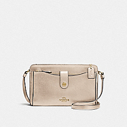 NOA POP-UP MESSENGER - LI/PLATINUM - COACH F59958