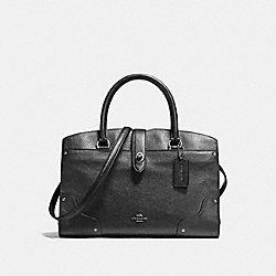 COACH MERCER SATCHEL 30 - SILVER/METALLIC GRAPHITE - F59987