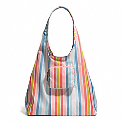 COACH PEYTON MULTISTRIPE FOLDING TOTE - ONE COLOR - F60250