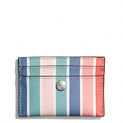 COACH PEYTON MULTISTRIPE CARD CASE - ONE COLOR - F60272