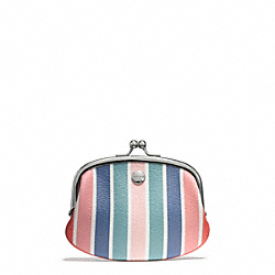 COACH PEYTON MULTISTRIPE COIN PURSE - ONE COLOR - F60274