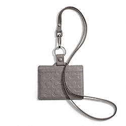 COACH OP ART EMBOSSED LEATHER LANYARD ID CARD CASE - ONE COLOR - F60644