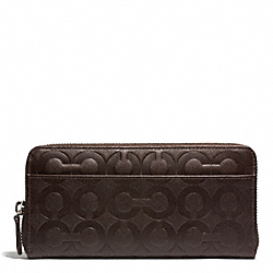 OP ART EMBOSSED ACCORDION WALLET - MAHOGANY - COACH F60735