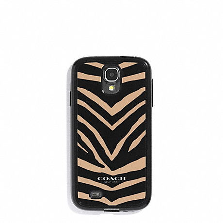 COACH f60942 ZEBRA PRINT MOLDED GALAXY S4 CASE