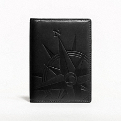 EMBOSSED COMPASS PASSPORT CASE