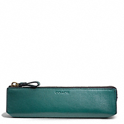 BLEECKER LEGACY LEATHER PENCIL CASE COACH F61075