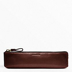 COACH BLEECKER LEATHER PENCIL CASE - ONE COLOR - F61075