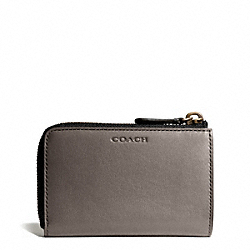 COACH BLEECKER LEATHER ZIP KEYCASE - ONE COLOR - F61077
